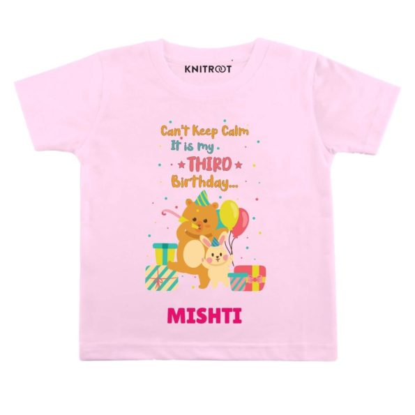 Calm it's third birthday Toddler outfit