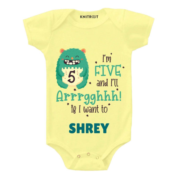 Five and i'll Arrghh Toddler outfit