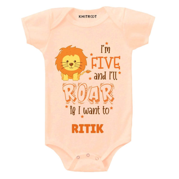 Five and i'll roar Toddler wear