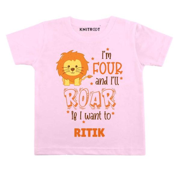 Four and i'll roar Birthday wear