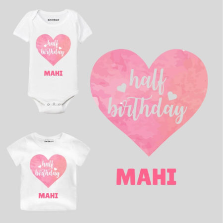 Half Birthday-heart Outfit