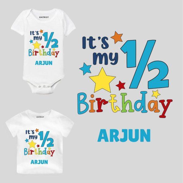Half Birthday-star Baby wear