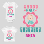 Happy Half Birthday Baby wear