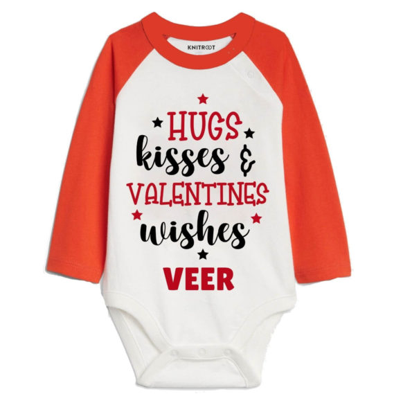 Hugs Kisses and Valentines Wishes Baby Romper