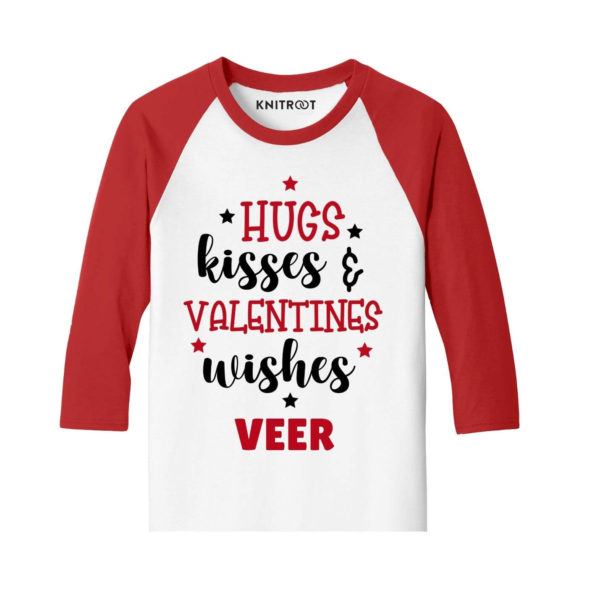 Hugs Kisses and Valentines Wishes Kids T-shirt