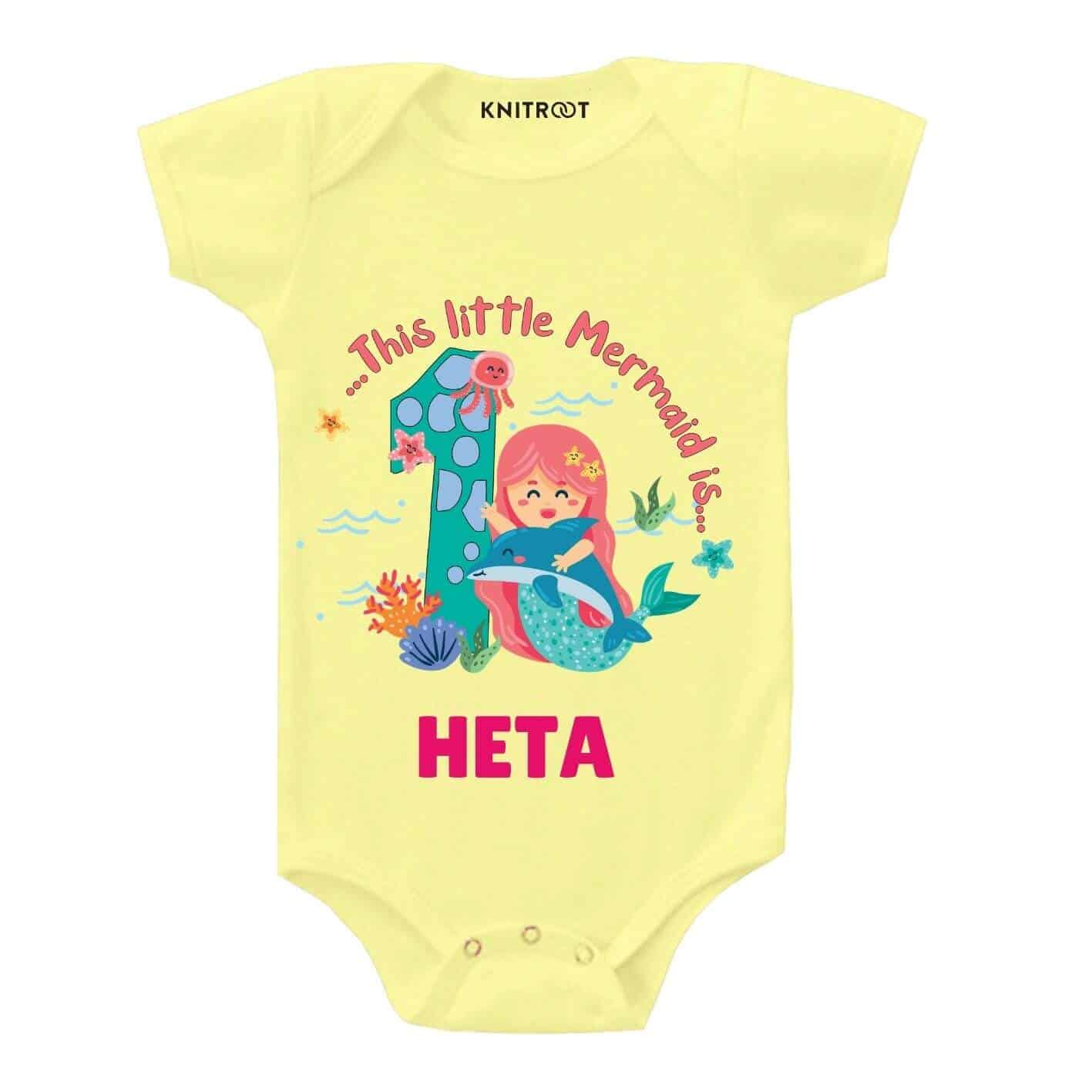 Mermaid is 1 Personalize Toddler wear