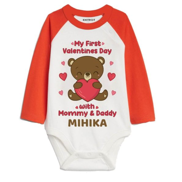 My First Valentines Day with mommy and daddy Baby Onesie