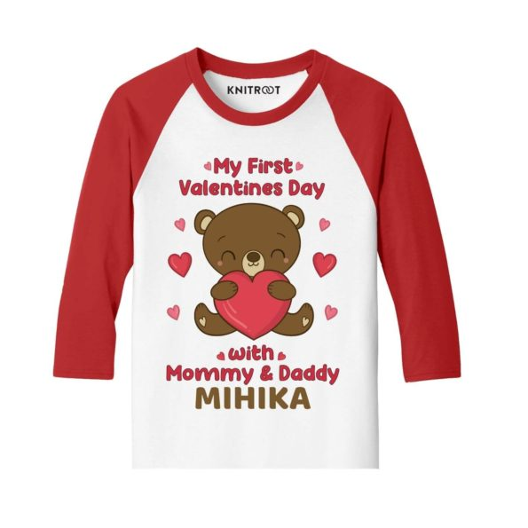 My First Valentines Day with mommy and daddy Kids Tees