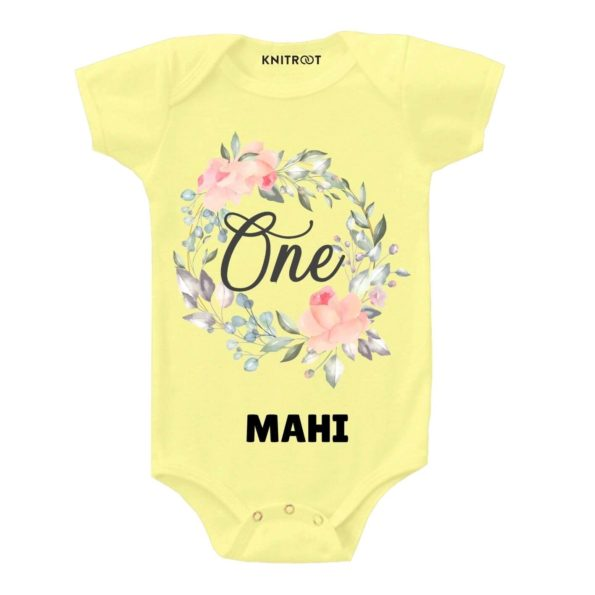 One Birthday-floral Toddler outfit