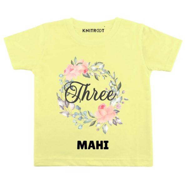 Three Birthday-floral Toddler wear