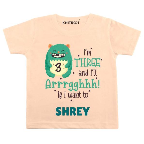 Three and i'll Arrghh Birthday wear