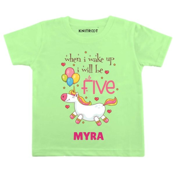 Wake up be Five Birthday Outfit