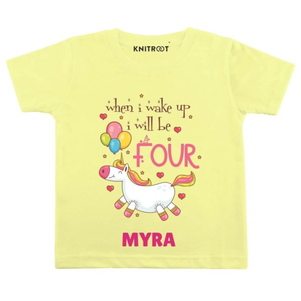 Wake up be Four Birthday Outfit