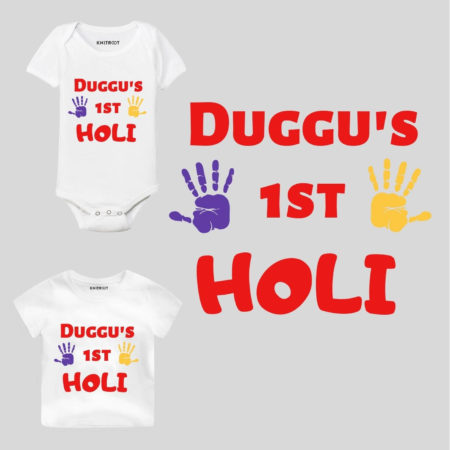 1st Holi Personalized Baby Outfit