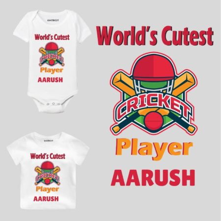 Cricket player Baby Outfit