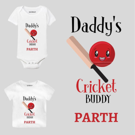 Daddy's Cricket Kids Outfit