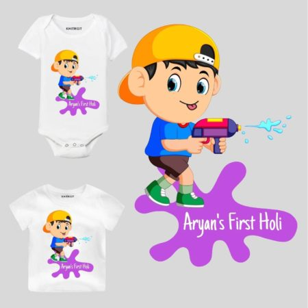 First holi-Boy Kids Outfit