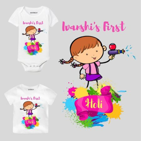 First holi-girl Kids Outfit
