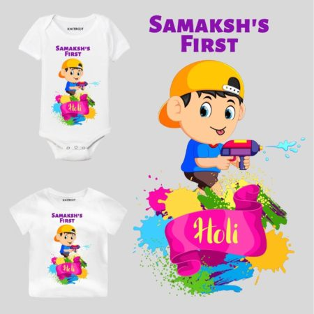 First holi-name top Kids Outfit