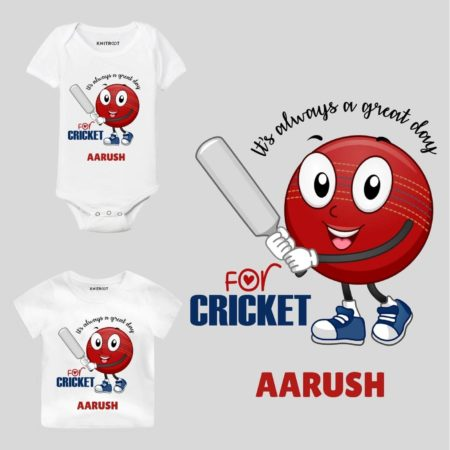 For Cricket Kids Outfit