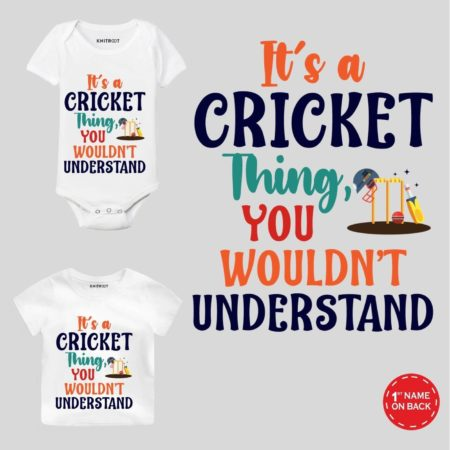 It's a Cricket Kids Outfit