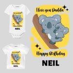 Dadda Birthday presonalized wear