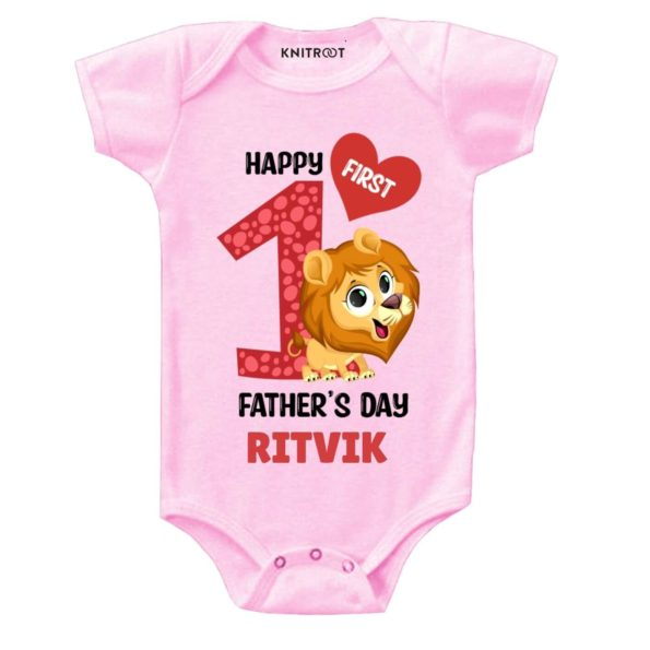 First Father's day-lion baby wear