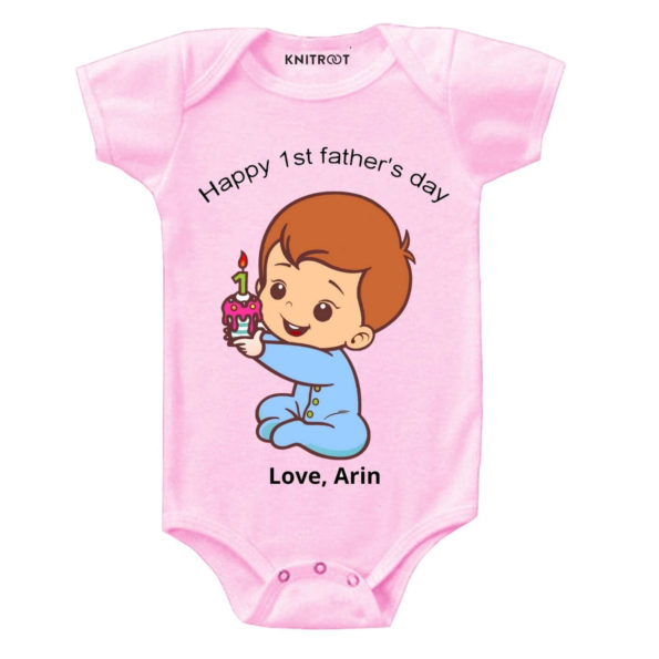 Happy 1st father's day-candle