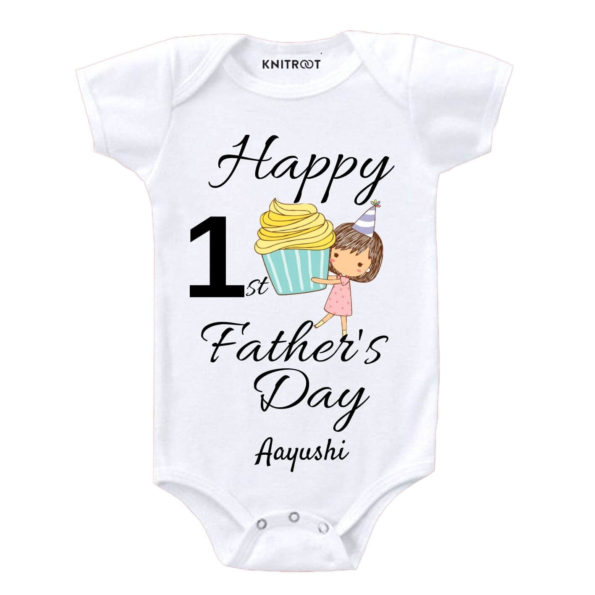 Happy 1st father's day-cupcake