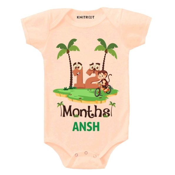 Monkey Theme 12 Month Birthday Outfit