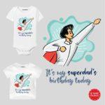 Superdad's Birthday Baby clothes