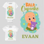 Bald Cupcake Baby Outfit