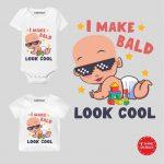 Bald look cool Baby Wear