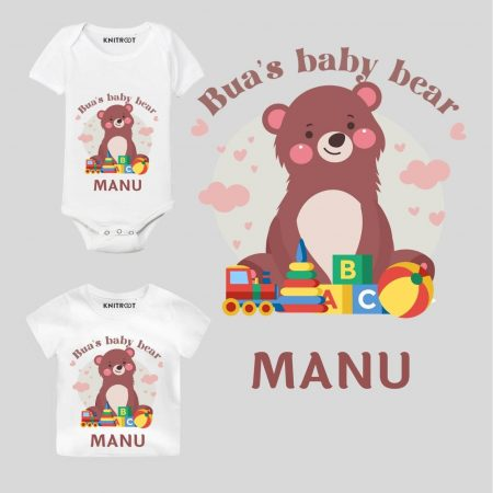 Bua's bear Baby Outfit
