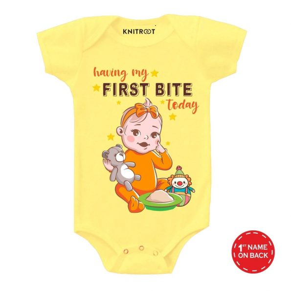 First Bite Baby Outfit