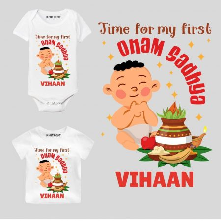 First Onam Sandhya Outfit