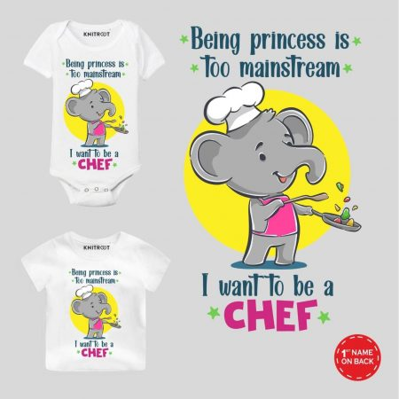 Want to be chef Baby Outfit