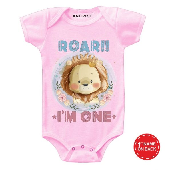 Roar I'm One Baby Outfit pi r