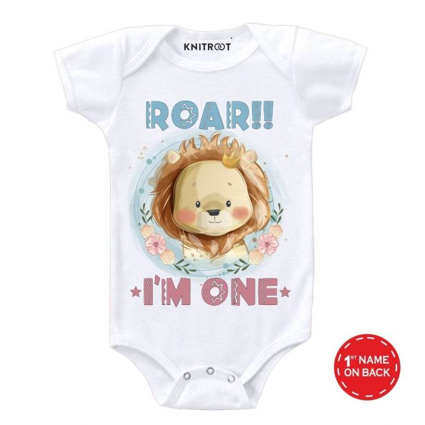 Roar I'm One Baby Outfit w r
